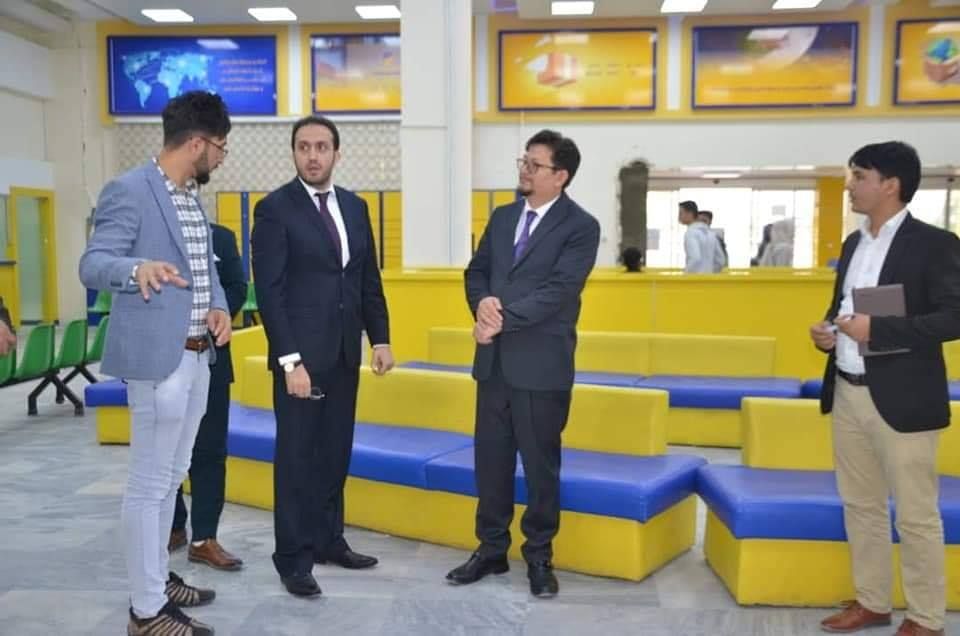 دیدار معین مالی و اداری وزارت مخابرات و تکنالوژی معلوماتی از رياست افغان پُست